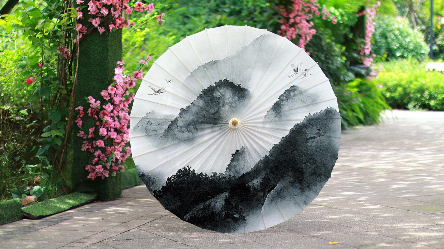 油纸伞的伞面