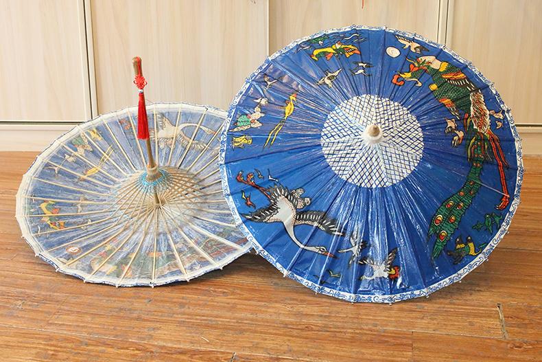传统定制油纸伞的伞骨