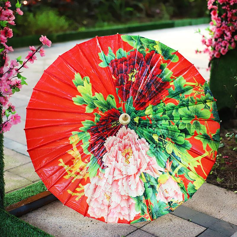 【牡丹】毕六福彩印油纸伞