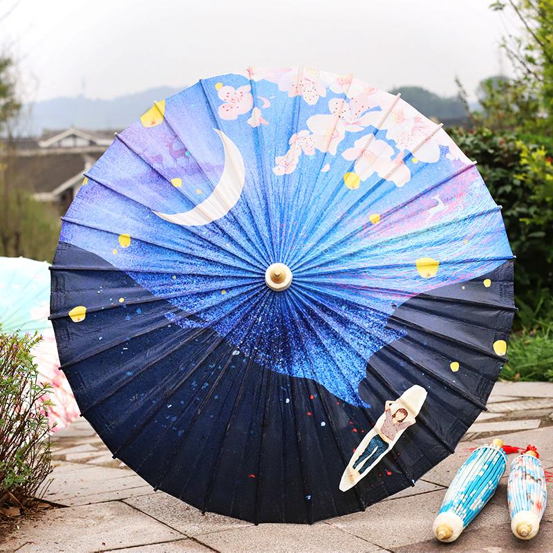 【月夜】彩印油纸伞
