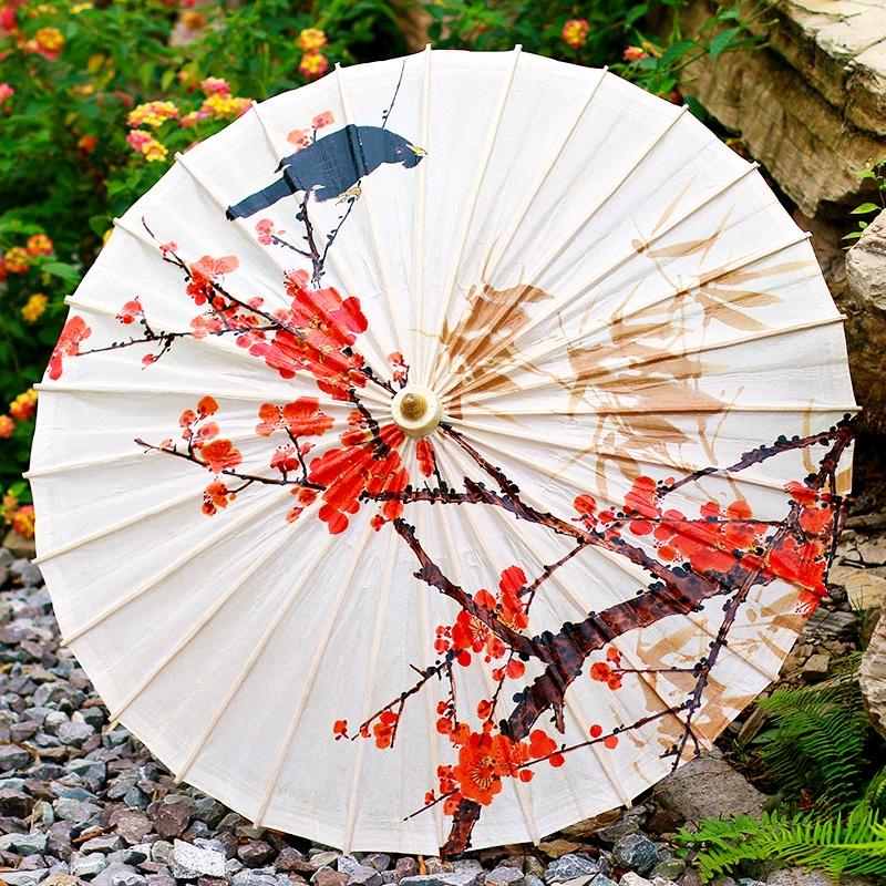 花鸟图案油纸伞