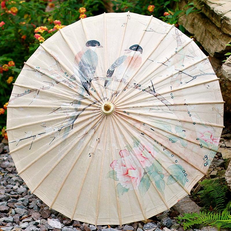 花鸟古风油纸伞