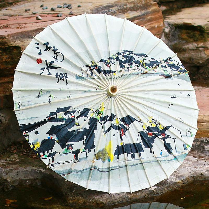 江南风格油纸伞