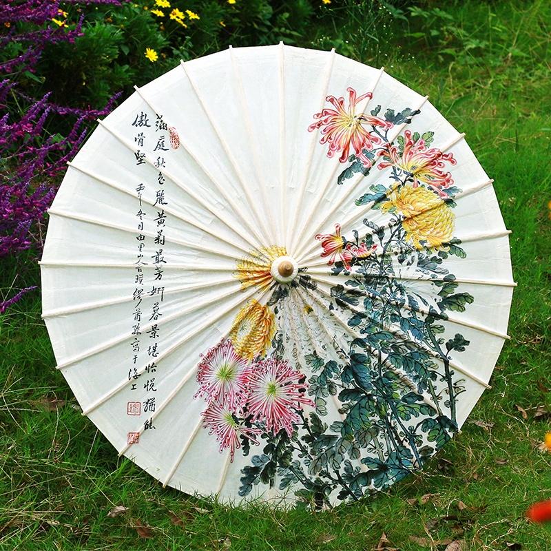 菊花油纸伞
