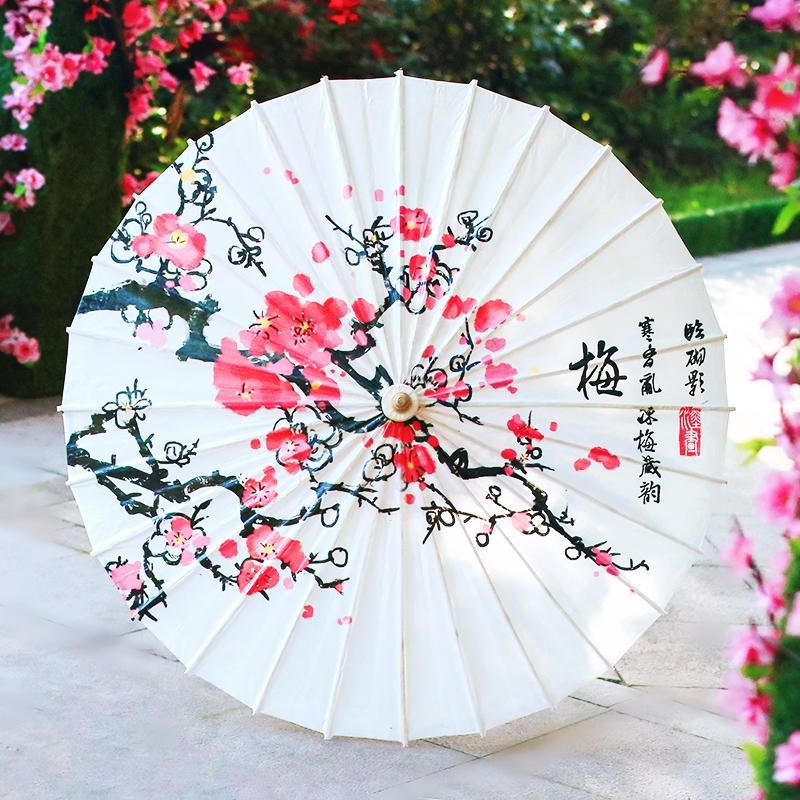 【梅花】彩印油纸伞