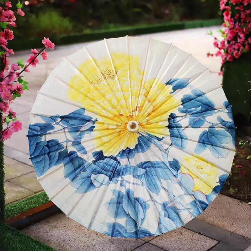 【牡丹】彩印油纸伞