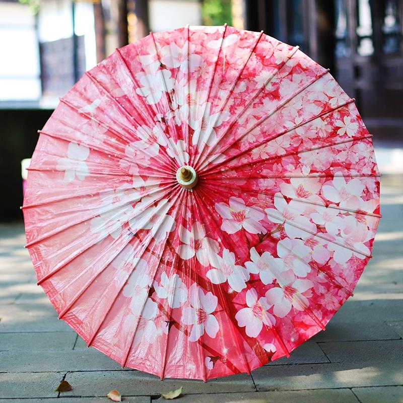 【樱花】彩印油纸伞