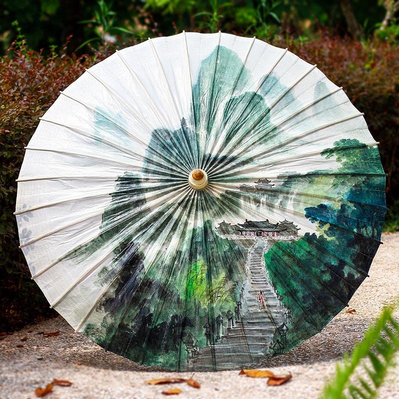 水墨手绘油纸伞