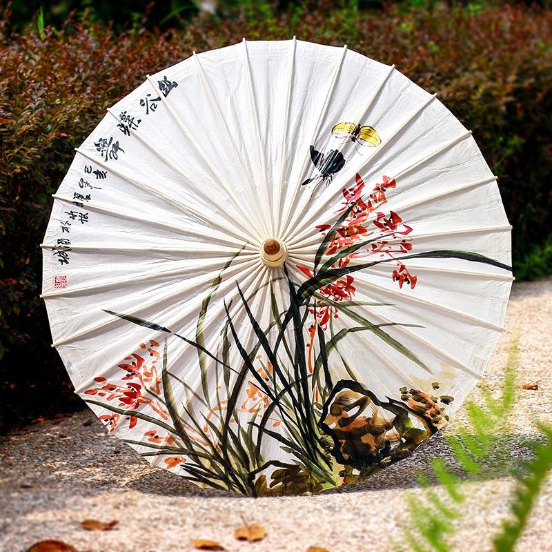 花卉手绘油纸伞