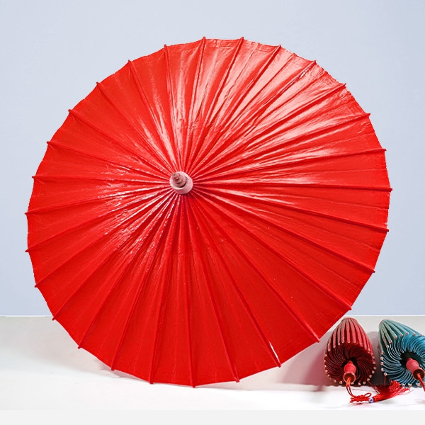 浙江非遗纯色油纸伞