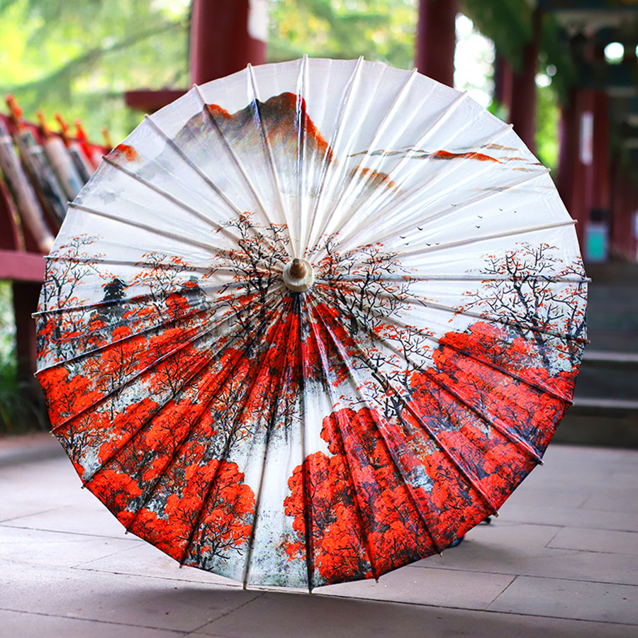 古典油纸伞是绿色低碳的中国元素礼品
